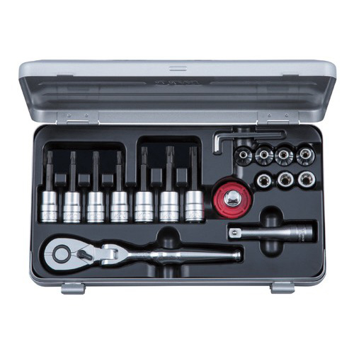 京都機械工具(KTC):TBT319TX 9.5SQ T型トルクスビットソケットレンチセット 型式:TBT319TX