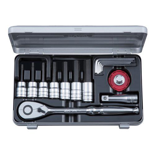 京都機械工具(KTC):TBT415HX (12.7SQ) ヘキサゴンビットソケットレンチセット 型式:TBT415HX