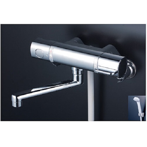 日時指定 人気商品 水栓金具 補修部品 混合水栓 浴室 バス 型式:FTB100KMHT KVK:サーモスタット式シャワー