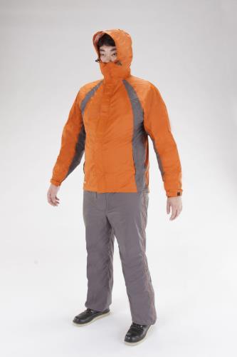 【安全保護具】【レインウエアー・作業服】 【スーパーSALE対象商品】エスコ (ESCO) [3L] レインウェアー(透湿型/オレンジ) EA996YB-24D
