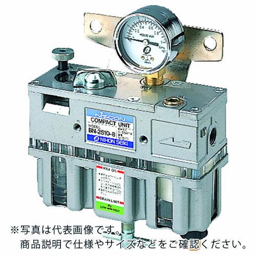 空圧 モデル着用&注目アイテム 油圧機器 FRLユニット 日本精器 FRLユニット8A一体型 BN25108 BN-2510-8 BN2510-8A トラスト 株