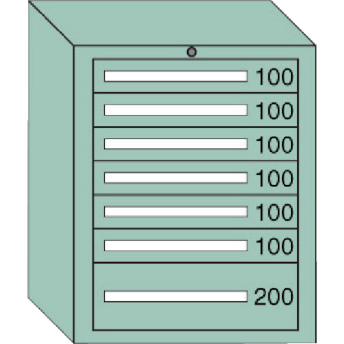 ( 中量キャビネット ) OS 6809 間口693×奥行557×高さ881mm 大阪製罐(株) 6-809