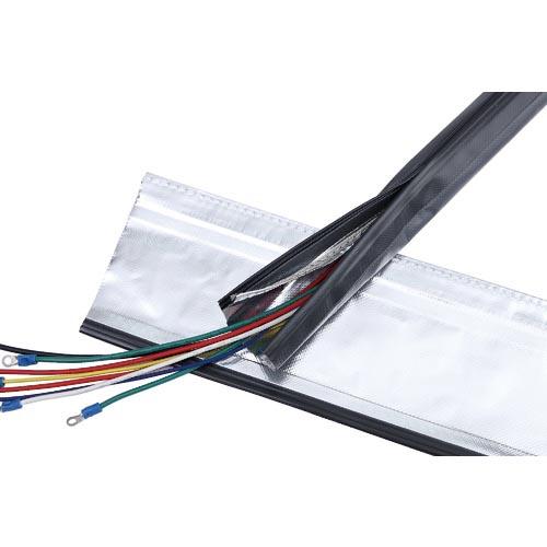 条件付送料無料 電子機器 電設配線部品 電線保護資材 トラスコ TRUSCO 電磁波シールド結束チューブ 40Φ10m 高品質新品 SHNF4010R2 トラスコ中山 SHNF-40-10-R2 株 お見舞い ジッパータイプ