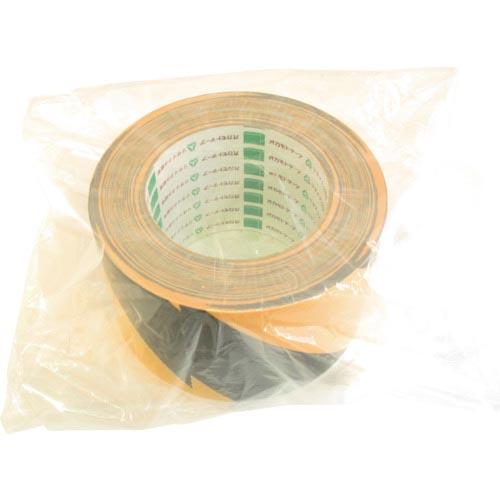 テープ用品 危険表示テープ オカモト 布テープ トラ 粘着製品部 111T75 株 舗 宅配便送料無料 75ミリ×25m