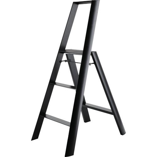 条件付送料無料 工事 照明用品 日本未発売 はしご 脚立 踏台 ハセガワ ルカーノ 株 有名な BK ML2.0-3 17020 ML2.03BK ブラック 3ステップ 長谷川工業