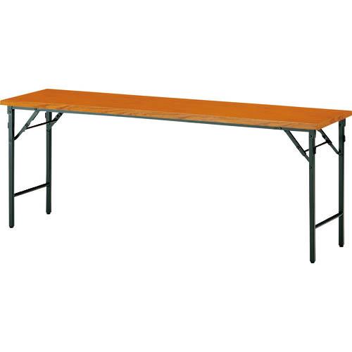 オフィス 住設用品 オフィス家具 会議用テーブル TOKIO 折りたたみテーブル 1500×450mm TW-1545TN 激安セール チーク 株 メーカー取寄 割り引き TW1545TN T 藤沢工業