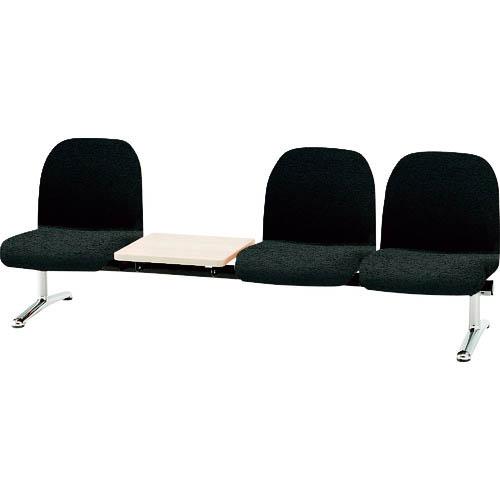 オフィス 住設用品 オフィス家具 ロビーチェア 10%OFF ベンチ 保証 TOKIO 背付3人掛テーブル付 メーカー取寄 NOR 株 藤沢工業 LA3TNOR ノワール LA-3T
