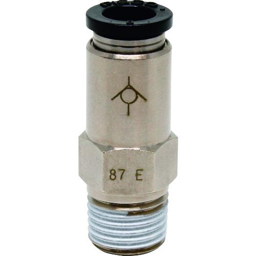 空圧用品 空圧 油圧機器 エアバルブ ピスコ 新色追加して再販 チェックバルブ ストレート メーカー取寄 CVC8-02B 4 株 日本ピスコ CVC802B 爆安 オネジ側出力チューブ8ネジR1