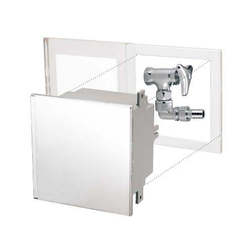 セール価格 ミヤコ ステンレス散水栓ボックス SB25-30 在庫処分 壁埋込水栓付