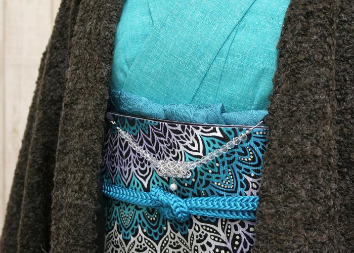 女性用 天然石の羽織紐 帯留め付き レディース 和の吉祥紋シルバー帯留めパール付き カン付き うれしづくし 天然石の羽織り紐 桐箱入りAYMSULqMpzGjV