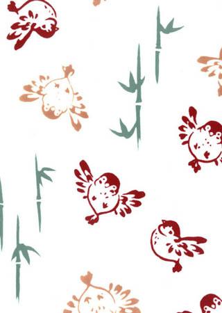 注染 本染め手拭い タペストリーや額縁に入れて飾ってもOK 日本正規代理店品 レトロ 日本製 手ぬぐい 梨園染め ふくら雀 てぬぐい 白 販売 手拭い メール便OK 849 TD 《戸田屋商店》スズメ 鳥