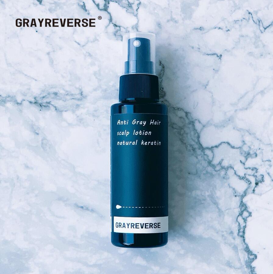 最新の白髪ケアトニック GRAYREVERSE 2020 グレイ 新登場 リバース 100ml 白髪ケア 育毛 スキャルプケア 白髪 トニック 幹細胞 ダークニル
