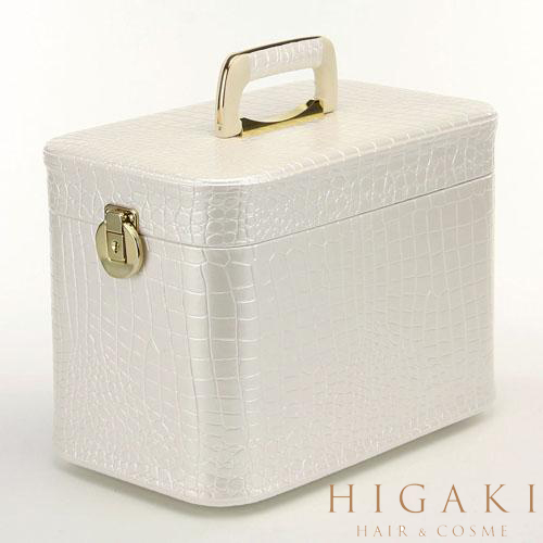 25467ce6c Make up box crocodile vertical trench case white white mirror with mirror  with large vanity cosmetic ...