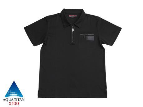 ファイテン ポロシャツ X100  ジップアップ