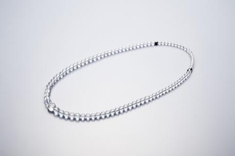 【送料無料】 ファイテン水晶ネックレス グラデーション 80cm
