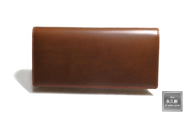 本革 長財布 ブラウン/レッド(茶) NIFTY シリーズ XO101-R-BW 永久創 革 皮 財布 メンズ サイフ 粋 2つ折り 二つ折 二つ折り 人気 販売 牛革 クリスマス ブランド おすすめ オススメ レザー レディー