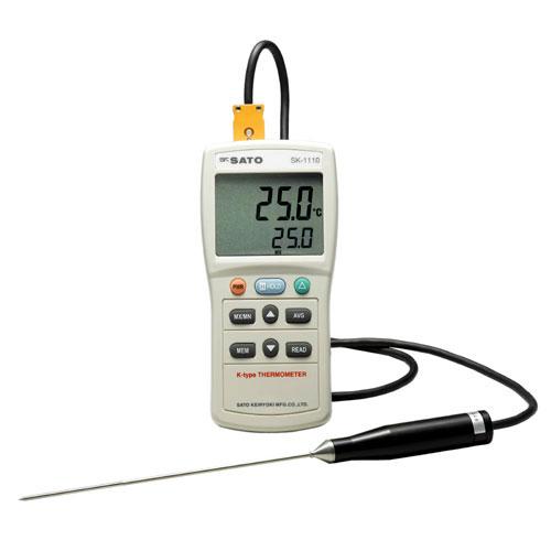 佐藤計量器SATOデジタル温度計SK-1110標準センサSK-K010付