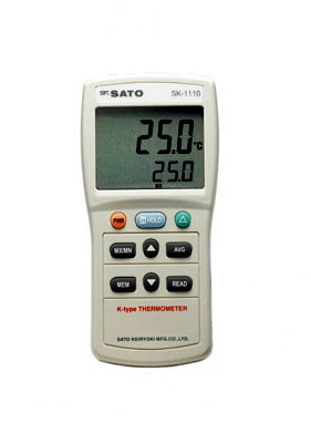 佐藤計量器SATOデジタル温度計SK-1120(指示計のみ)2chタイプ