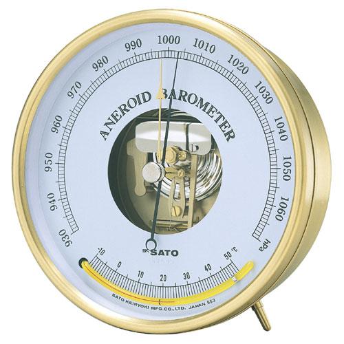 佐藤計量器SATOアネロイド気圧計(温度計付)