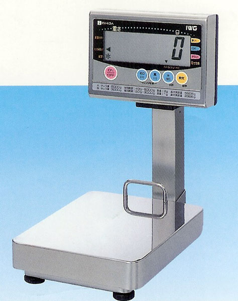 イシダISHIDA防水型デジタル台はかりIWG-6000ひょう量6kg(検定付)