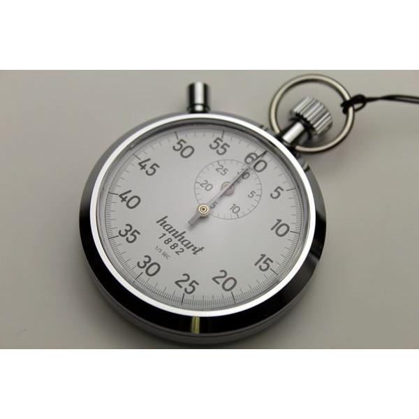 HANHARTアナログストップウォッチ1/5秒30分積算式7石