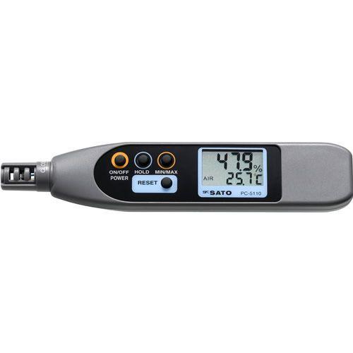 佐藤計量器SATOペンタイプデジタル温湿度計PC-5110 No.8070-10 【smtb-k】【ky】