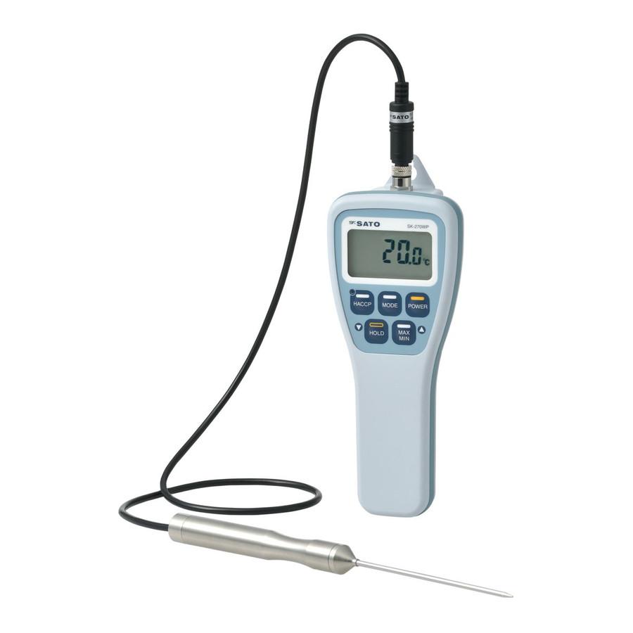 佐藤計量器 SK-270WP HACCP機能付防水型デジタル温度計(標準センサS270WP-01付) No.8078-00 SATO