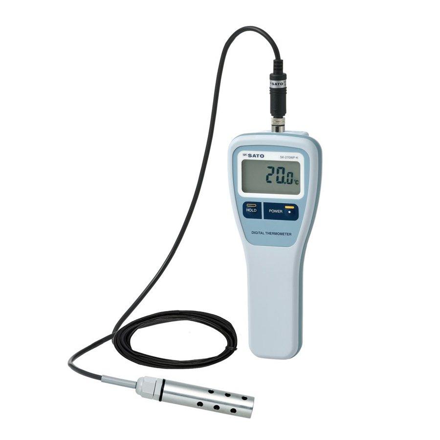 佐藤計量器 SK-270WP-K 単機能防水型デジタル温度計 投げ込みセンサS270WP-31付 SATO