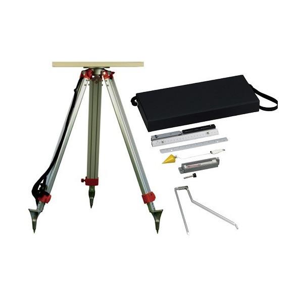 田村型平板測量器セット TPT-SET (金属アリダードセット+平板+移動器+三脚)