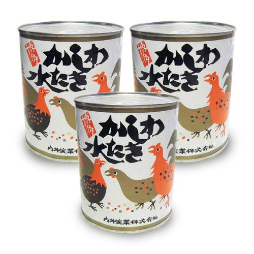 帰省土産 かしわ水炊き缶 (化粧箱なし) 旅行 内外実業 博多名物 850g×6缶 大缶・