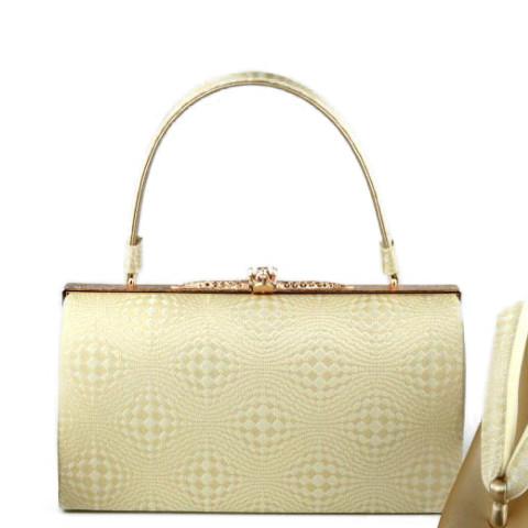 バッグセット女性用 礼装バッグセット上品な金地の織柄 礼装用にどうぞ。(M,L)