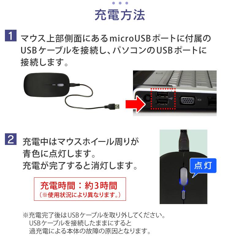 ワイヤレスマウス 無線マウス 充電式マウス 充電式 光学式 電池交換不要 静音 静音マウス シンプル マウス ワイヤレス 無線 1600dpi コンパクト 軽量 バッテリー内蔵 USB