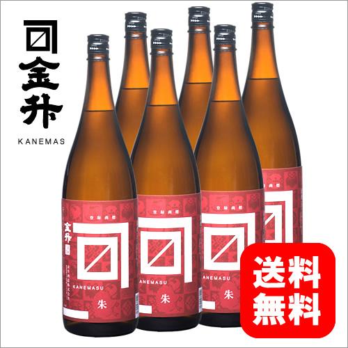金升 朱ラベル -あかラベル- 1800ml 一升瓶 6本 [ 日本酒 お酒 新潟 金升酒造 ]