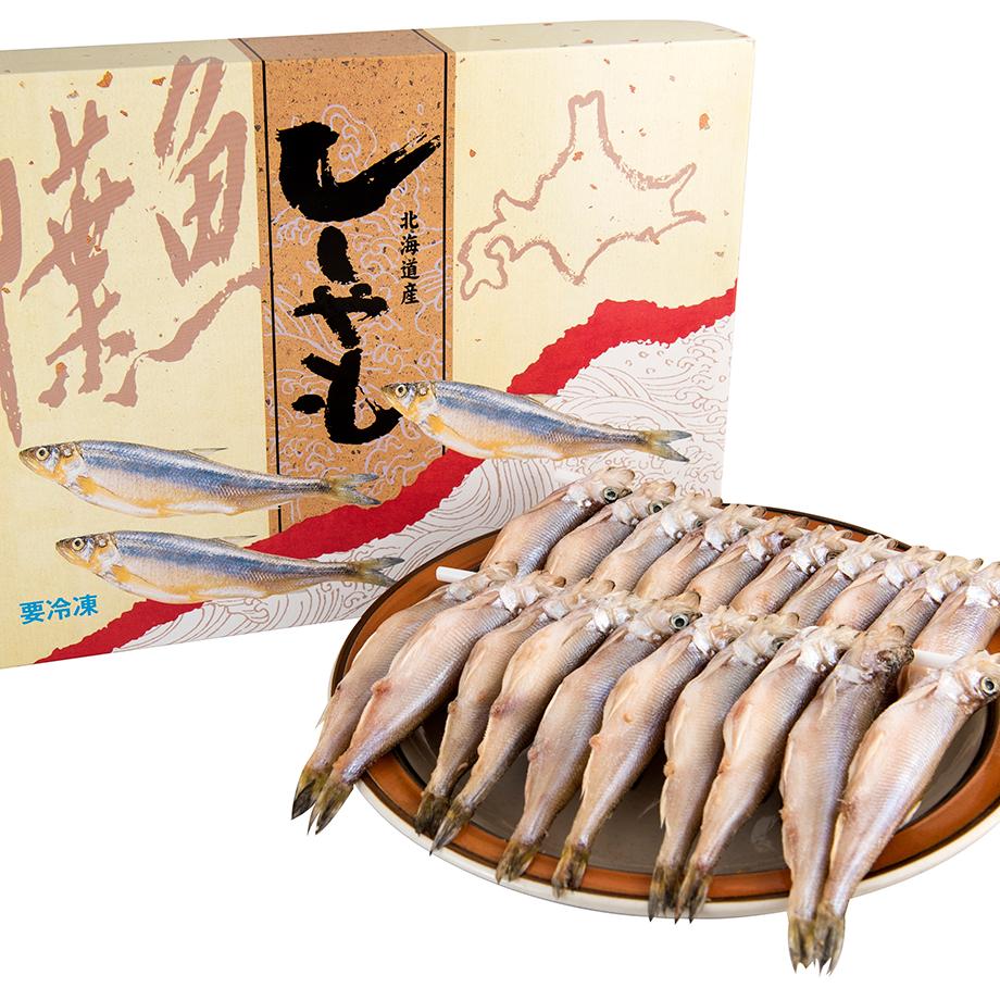 【蟹商】ししゃも(北海道産)メス30尾(化粧箱入)