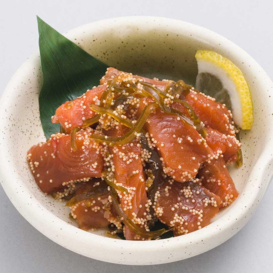 鮭を食べやすくカットし昆布と数の子で 漬け込みました SALE 函館竹田食品 お得なキャンペーンを実施中 1kg 業務用 鮭と昆布の子和え