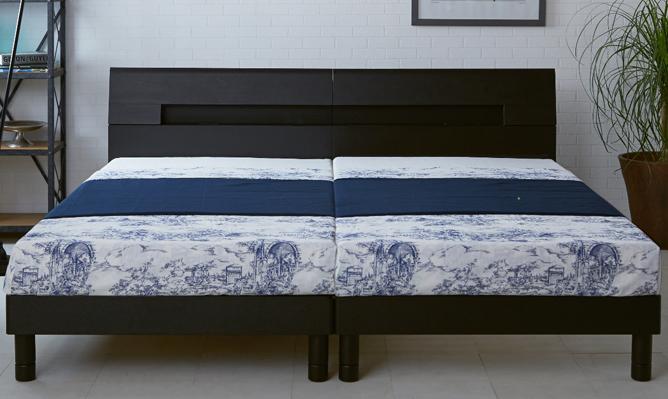 ベッド フレーム ウッドスプリングベッド 木製(タモ突板)北欧・ドイツのセンベラ(Sembella)/シングル・セミダブル/コンセント付/ウッドスプリング/宮付き/センベラ「アントス」
