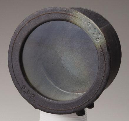 信楽焼 黒釉丸水槽【541-03】【日本製】