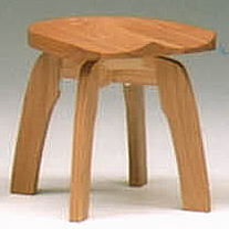 l天然オイル塗装のスツール Lサイズ(回転式)(タモ材)
