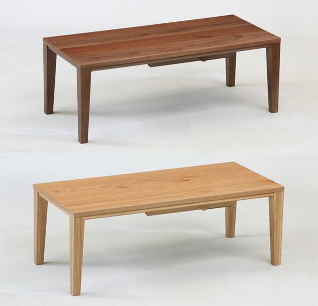 幅110cmこたつウォールナットとナラから選べる国産こたつ。ふしがインパクトの家具調炬燵。冬はこたつ、夏はセンターテーブルとして。木製、日本製の炬燵/座敷机/座卓/和風のリビングテーブル/長方形テーブル/木製テーブル/メゾン(maison)