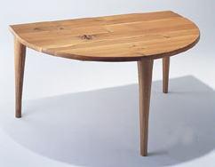 森のことば ダイニングテーブルSN390WP 半月形150x100 【日本製】[送料無料][正規品]飛騨産業 キツツキ ナラ材l