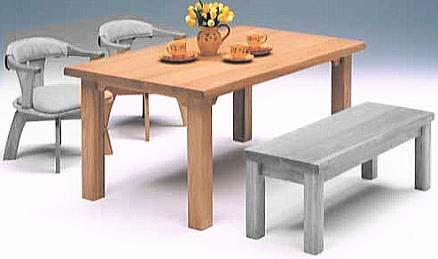 天然植物オイル塗装・セミオーダーのダイニングテーブル【ちあき】 幅~1200mm