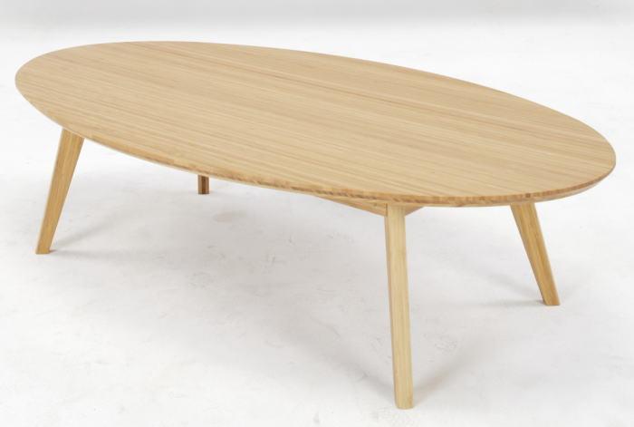 【正規品】TEORI テオリ リビングテーブル ローテーブル センターテーブル 楕円形 楕円テーブル 竹集成材