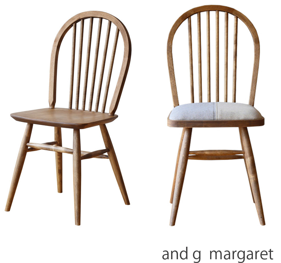【正規品】ダイニングチェア 椅子 margaret マーガレット andg アンジー 肘無 板座 バーチ材 幅40cm