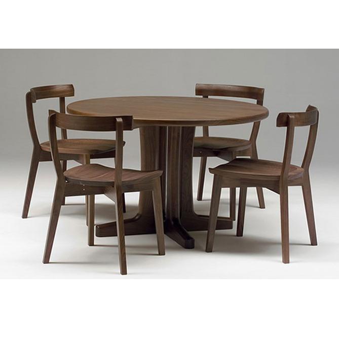 エテルノ eterno 円形テーブル ダイニングテーブル 丸テーブル 1本脚 木製 ナラ ホワイトオーク材 メープル ウォールナット チェリー 無垢材 北欧デザイン 国産 日本製 直径80~150cm