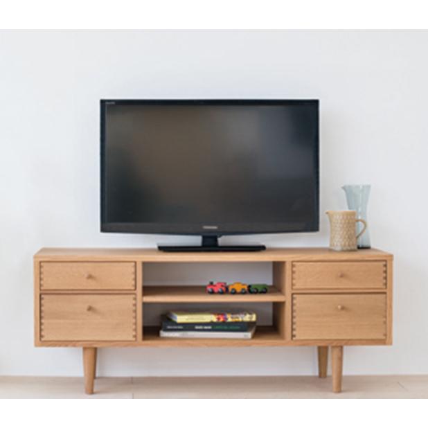 幅116cmAVボード(CN560)・小さめのテレビにぴったりのコンパクトなTVボード。伝統的な「あられ組み」がアクセント。日々の暮らしにとけ込んでいく家具「madobe(マドベ)」シリーズ[送料無料][正規品]