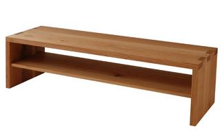 森のことば ローシェルフ(棚板付)SN581 巾126 【日本製】[送料無料][正規品]飛騨産業 キツツキ ナラ材l