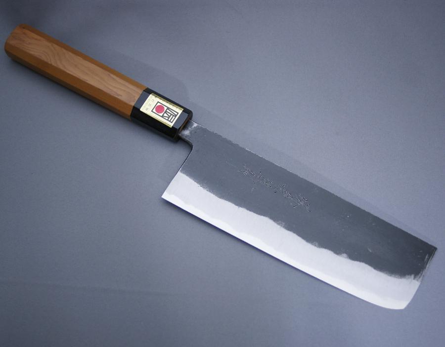 堺兼近作 菜切包丁 165mm 黒打ち仕上げ 黒打包丁 白二鋼 白紙2号 堺打刃物 日本製