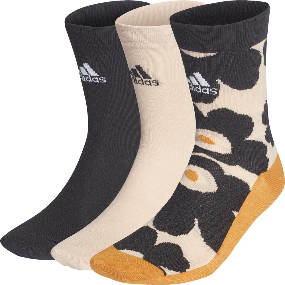 adidas アディダス ブランド品 トレーニング フィットネス ソックス 靴下 マリメッコ 新着 3P 3足組 ハロブラッシュ 21Q3 女性用 ブラック EMH19 男性用 {SK} GV2092 メンズ レディース 黒