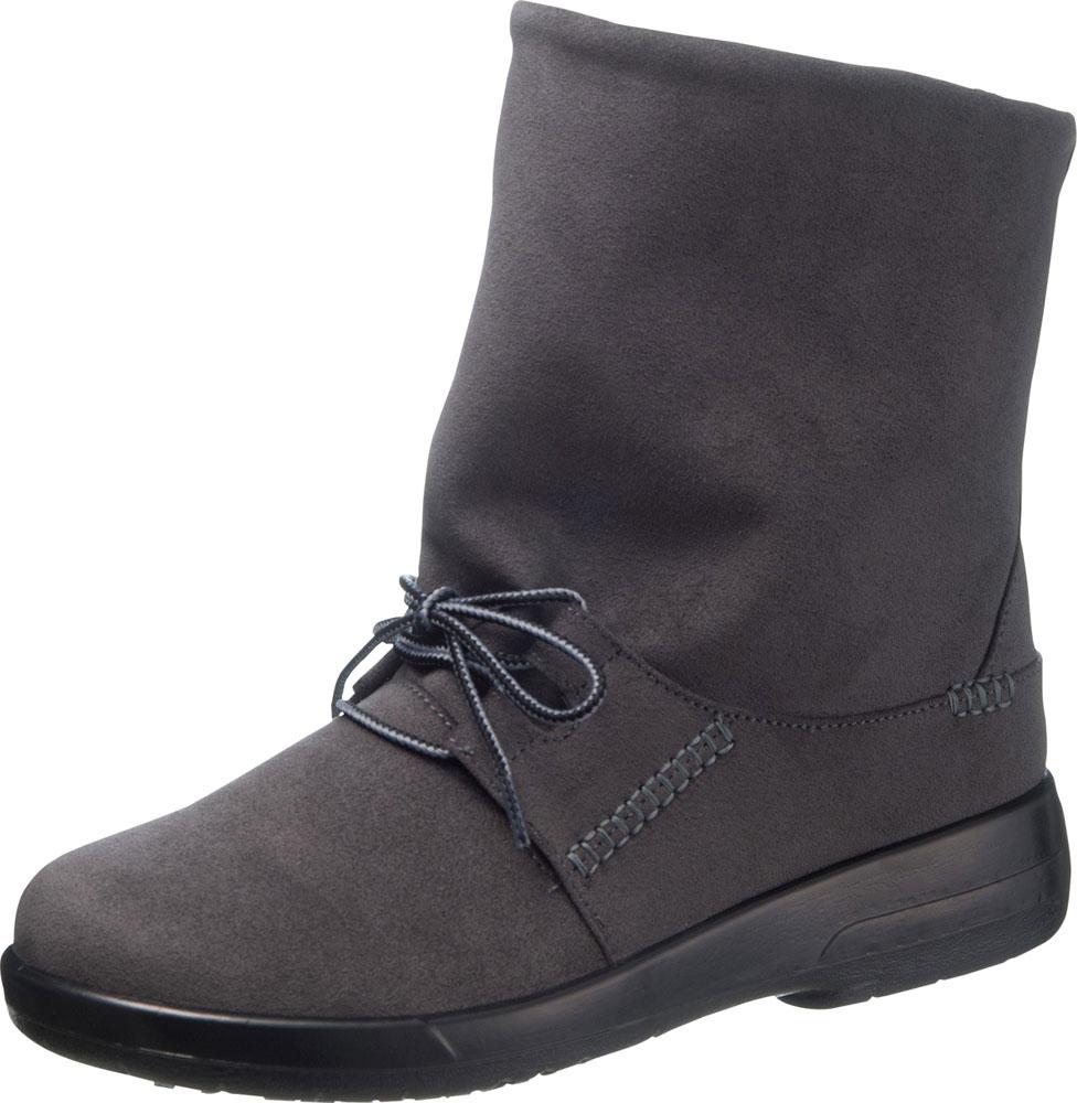 asahi shoes(アサヒシューズ) TOP DRY(トップドライ) カジュアル ショートブーツ TDY3883 C265【グレー】 レディース AF38837