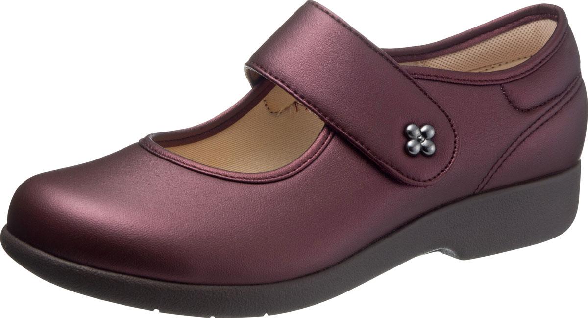 asahi shoes(アサヒシューズ) 快歩主義 介護靴 KHS L129 C265【ワイン】 レディース KS23442